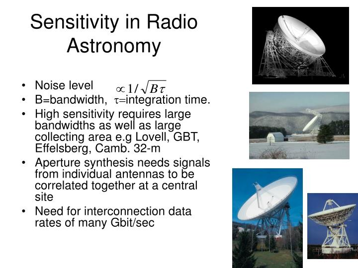 Sensitivity in Radio Astronomy