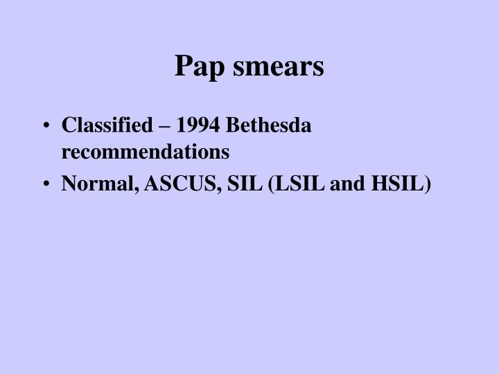 Pap smears