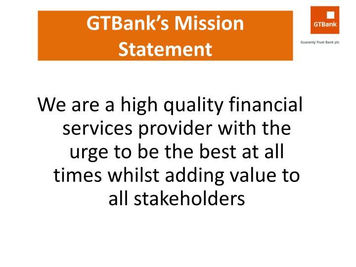 GTBank's