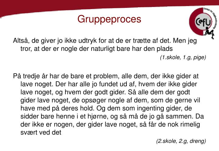 Gruppeproces