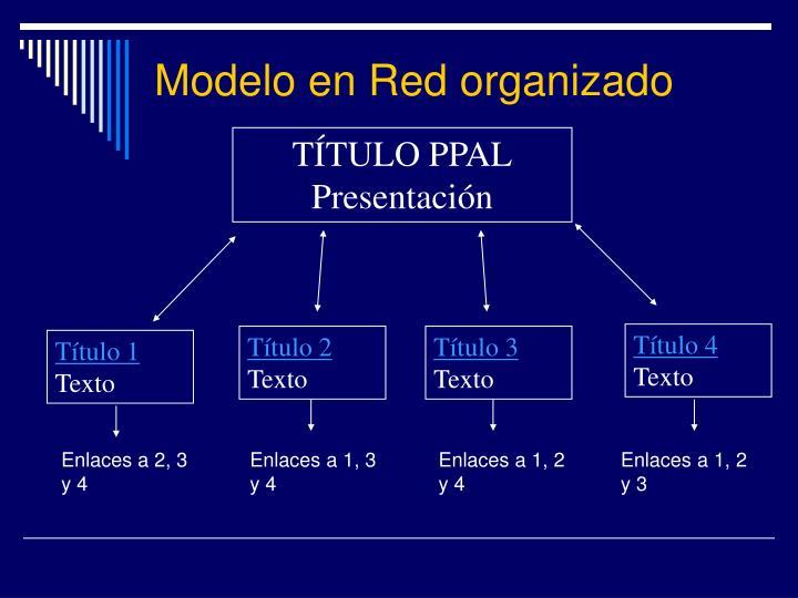 Modelo en Red organizado