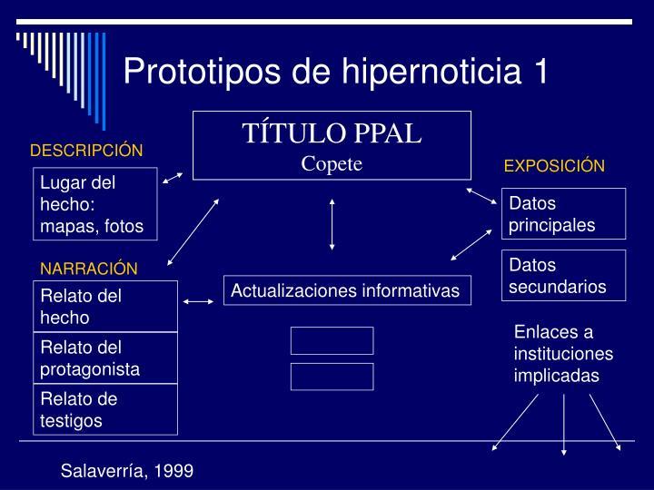 Prototipos de hipernoticia 1