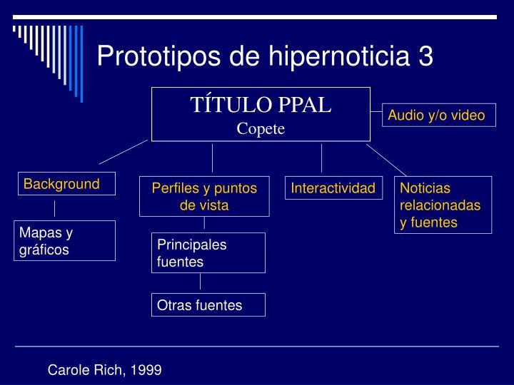Prototipos de hipernoticia 3