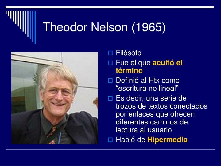 Theodor Nelson (1965)