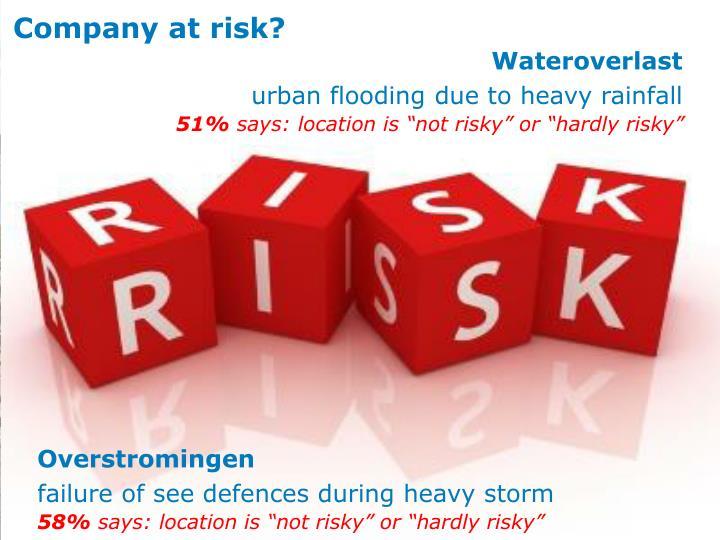 Company at risk?