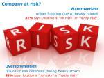 company at risk