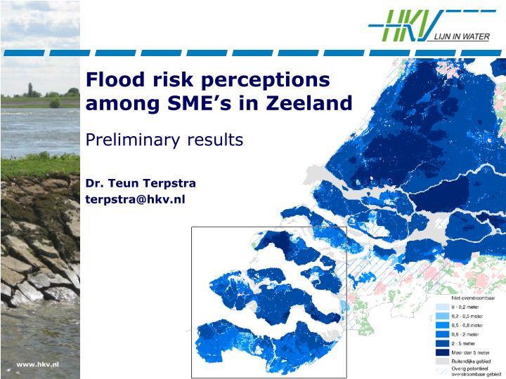 Flood risk perceptions