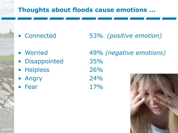 Thoughts about floods cause emotions ...
