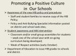 promoting a positive culture in our schools