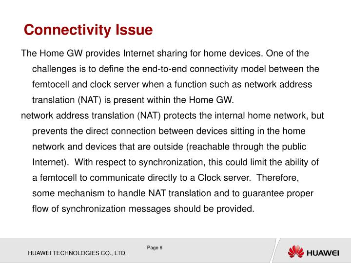 Connectivity Issue