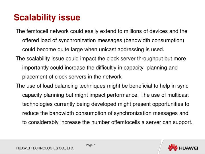 Scalability issue