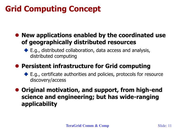 Grid Computing Concept