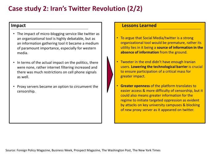 Case study 2: Iran's Twitter Revolution (2/2)