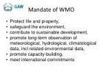 mandate of wmo