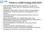 points in a gaw strategy 2016 2019