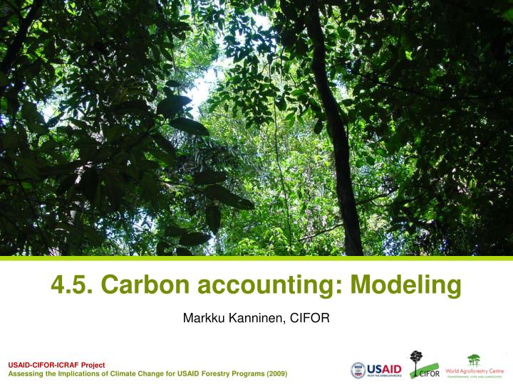 4 5 carbon accounting modeling