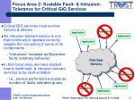 focus area 2 scalable fault intrusion tolerance for critical gig services