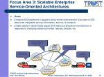 focus area 3 scalable enterprise service oriented architectures