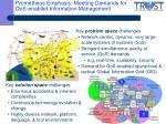 prometheus emphasis meeting demands for qos enabled information management
