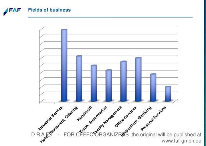Fields of business
