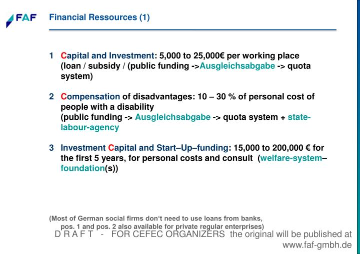 Financial Ressources (1)