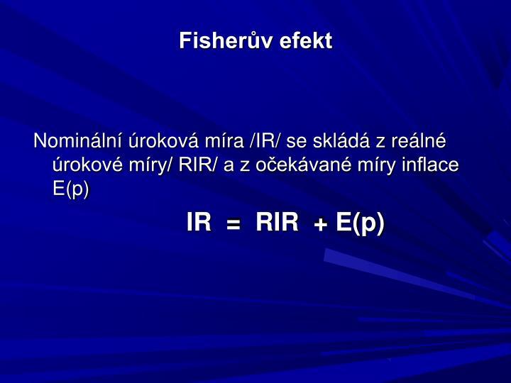 Fisherův efekt