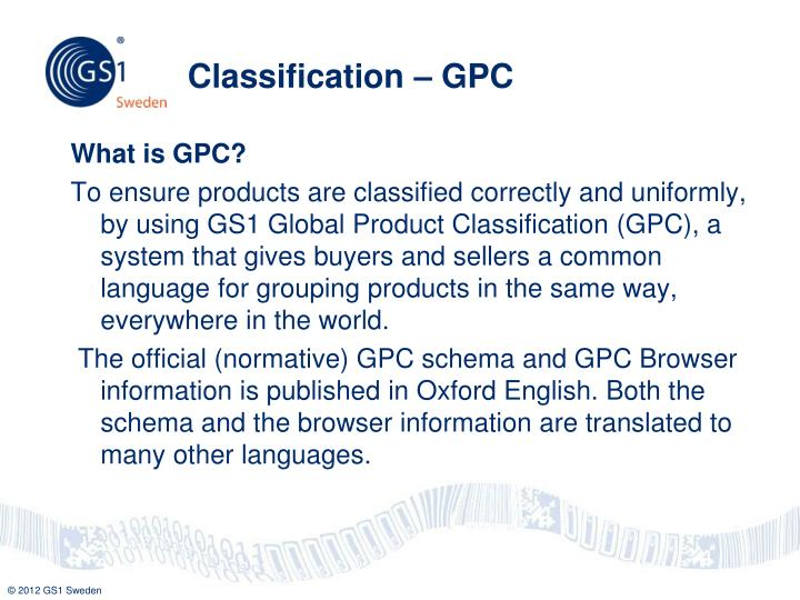 Classification – GPC