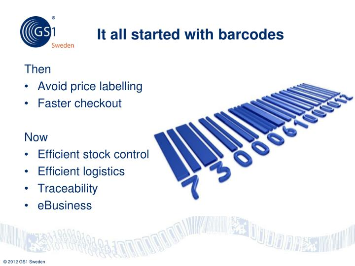 It all started with barcodes