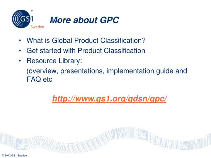 More about GPC