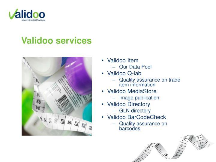 Validoo services