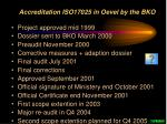 accreditation iso17025 in oevel by the bko