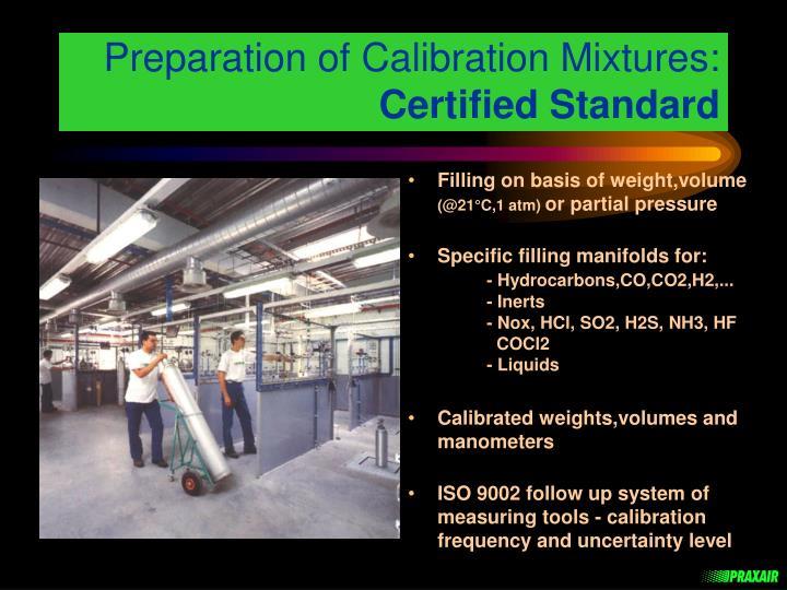 Preparation of Calibration Mixtures: