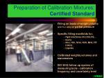 preparation of calibration mixtures certified standard