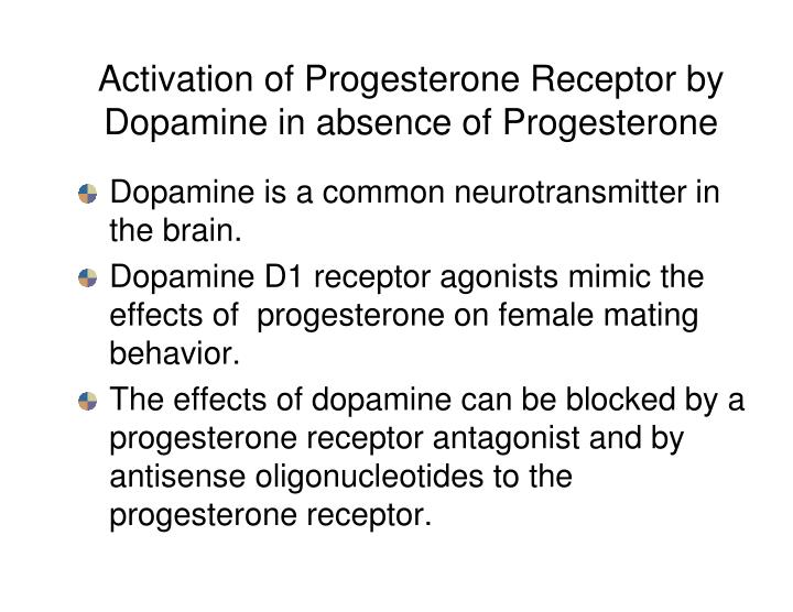 Activation of Progesterone Receptor by Dopamine in absence of Progesterone