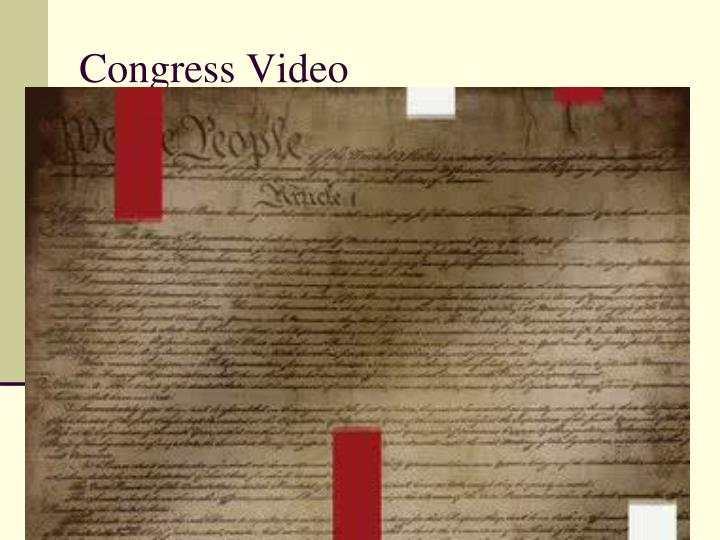 Congress video