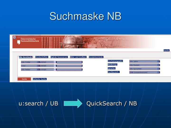 Suchmaske NB