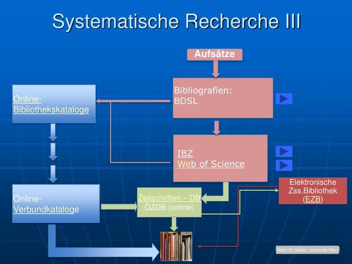 Nach: W. Seidler, Universität Wien