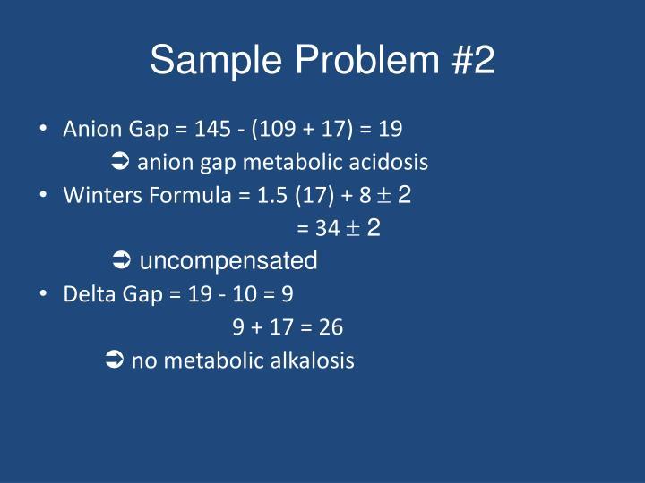 Sample Problem #2