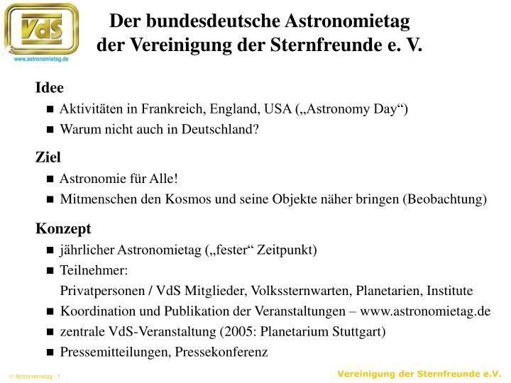 Der bundesdeutsche Astronomietag