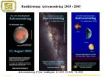 realisierung astronomietag 2003 2005