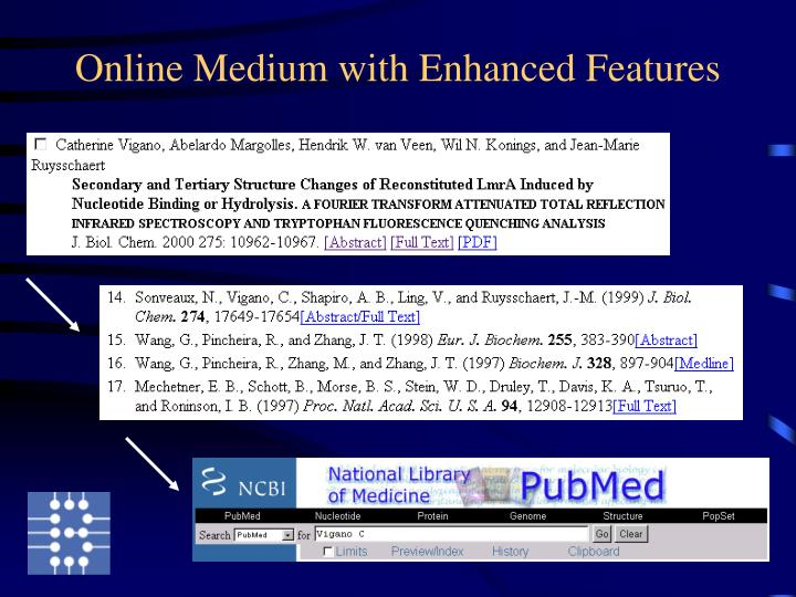 Online Medium with Enhanced Features