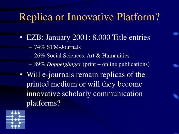 Replica or Innovative Platform?