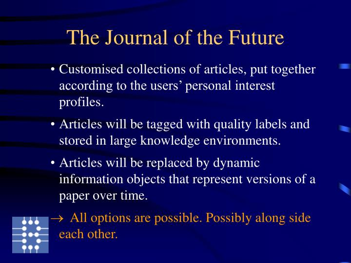 The Journal of the Future