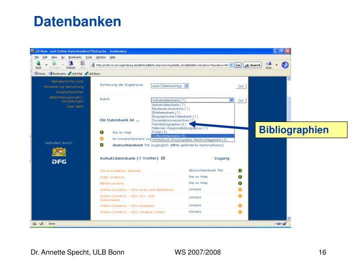 Bibliographien