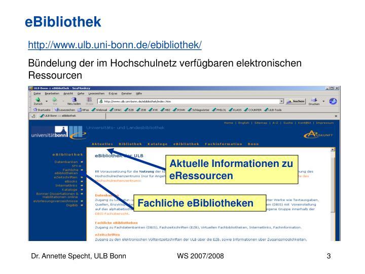 Aktuelle Informationen zu eRessourcen