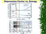 depression factor vs energy