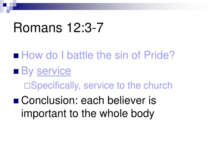 Romans 12:3-7