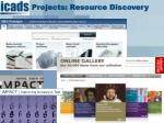projects resource discovery