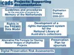 projects supporting documentation