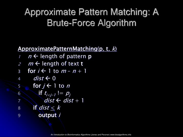 Approximate Pattern Matching: A Brute-Force Algorithm